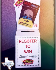 Tickets for the next concert are now up for grabs!!! Come by today and sign up for your chance to win a pair of tickets to see Weezer and Panic at the Disco!!! Don't miss out hurry in NO PURCHASE NECESSARY!!! #breatheinvapeout #weezer #panicatthedisco #concretestreet