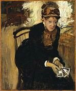 Mary Cassat by Degas