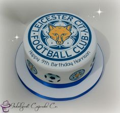 Personalised Leicester City Football Club cake....