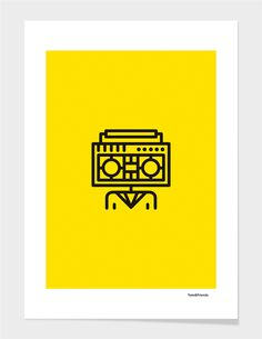 """Radiohead"" - Numbered Art Print by Tata&Friends on Curioos"