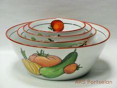 Köögiviljadega kausid. Käsitsi maalitud. / Hand painted porcelain / #ars_portselan www.arsportselan.ee / www.facebook.com/arsportselan / info@arsportselan.ee
