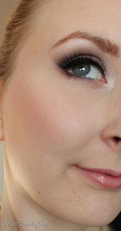 Wedding makeup - natural smokey eye shadow with relatively clean bottom eye line