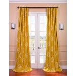 Found it at Wayfair - Half Price Drapes Isles Printed Cotton Rod Pocket Curtain Single Panel Cotton Curtains, Lined Curtains, Window Curtains, Cotton Fabric, Yellow Curtains, Room Window, Bedroom Curtains, Window Panels, Blackout Curtains