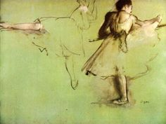 Image detail for -Edgar Degas Paintings - Edgar Degas Dancers at the Barre Painting