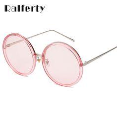 Ralferty 2017 Big Round Sunglasses Women Pink Sun Glasses UV400 Oversized Sunglass For Woman Circle Goggles Female Oculos A927 #Affiliate