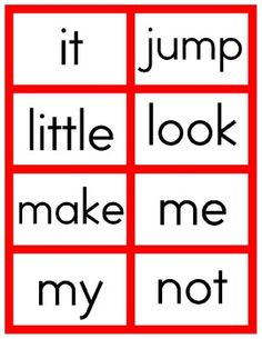 Dolch Cards Pre-K - Pinned by – Please Visit for all our pediatric therapy pins Preschool Literacy, Early Literacy, Kindergarten, Speech Language Pathology, Speech And Language, Language Arts, Word Study, Word Work, Phonological Awareness Activities