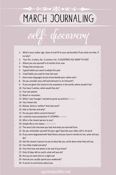 New Month and new journaling prompts, this month I wanted to make it specifically for self-discovery >> Writing Inspiration, Journal Inspiration, Writing Ideas, Gratitude Journal Prompts, Journal Questions, Therapy Journal, Mental Health Journal, Bullet Journal Ideas Pages, Bullet Journal Topics