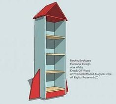 Rocket Bookcase for the boy's play room..