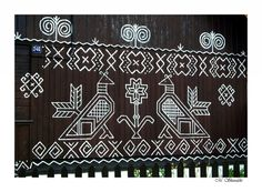 :Slavic Painted Village:  Čičmany, Slovakia Slavic Tattoo, Bohemian Pattern, Cross Stitch Bird, Beautiful Places In The World, Central Europe, Bratislava, Craft Patterns, Pyrography, Deco