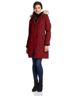 sale cheap canada goose womens constable parka burgundy online