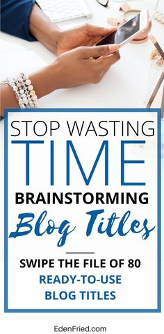 Your time is better spent writing the actual blogs rather than brainstorming blog titles. Swipe this blogging freebie to help make your life as a blogger that much easier. Blogging freebie. Blogging printable. Blogging template. Swipe file.