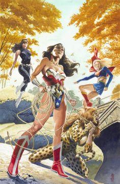 Wonder Woman, Cheetah, Supergirl, Donna Troy  by J.G. Jones