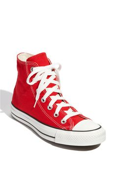 Converse Chuck Taylor® High Top Sneaker (Women) in red - I destroyed my old ones. It's a really sad story.