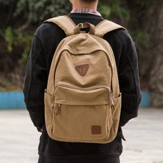 Amazon.com: OXA Military Vintage Casual Unisex Canvas Laptop Backpack Travel Backpack Daypack Rucksack College Bookbags School College Camping Hiking Sling Backpack Rucksack Gym Bag Weekend Bag for Men and Women Black: Clothing