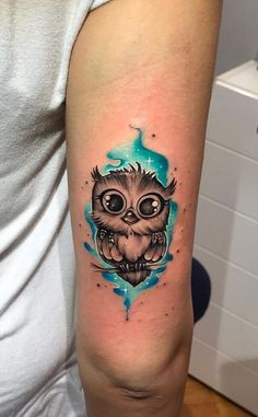 50 of the Most Beautiful Owl Tattoo Designs and Their Meaning for the Nocturnal . - 50 of the Most Beautiful Owl Tattoo Designs and Their Meaning for the Nocturnal Animal in You – # - Baby Owl Tattoos, Cute Owl Tattoo, Diy Tattoo, Animal Tattoos, Tattoo Owl, Tattoo Time, Owl Tattoo Meaning, Baby Feet Tattoos, Giraffe Tattoos