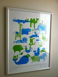 planning nursery design - abcs over rocker