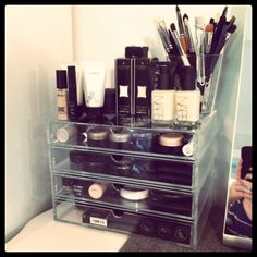 Muji storage...love mine!! 2 two drawer containers stacked