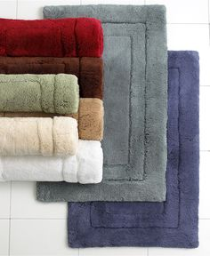 Hotel Collection Bathroom rugs Spa Like Bathroom, Bathroom Rugs, Bath Rugs, Mat Best, Blue Bath Mat, Blue Pictures, Bath Sheets, Color Balance, Luxury Bath