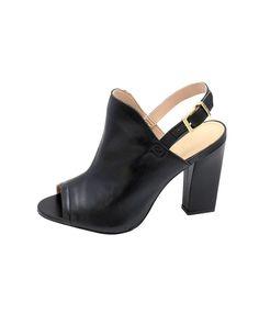 Glove sandal em couro sem forro, salto 10cm. Cristófoli verão 2015