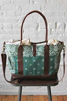 Gypsy Travel Totes  Bags| Serafini Amelia | Travel Ready Bag-Salvaged Bandana Weekend Bag