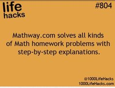 For kids / children / students / adults who need math help. life hacks… For kids / children / students / adults who need math help. life hacks for school College Hacks, School Hacks, School Tips, College Math, College Checklist, School Info, College Dorms, Online College, College Students