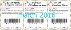 Free Printable Coupons: Sweet Tomatoes Coupons