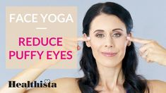 Want to reduce puffy eyes? This four minute face yoga sequence with expert Danielle Collins brings you the moves to brighten and tighten fast Massage Facial, Yoga Facial, Lymph Massage, Face Yoga Method, Reduce Face Fat, Face Yoga Exercises, Natural Face Lift, Yoga Diet, Smooth Lips