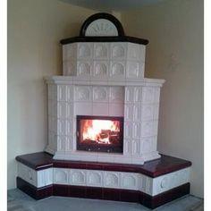 Soba teracota colt - Balan - Biro Finart Srl, ID: 11561805 Wood Burning Stove Corner, Wood Stove Cooking, Stair Landing, Rocket Stoves, Design Case, Architecture Design, Home Appliances, Indoor, House Design