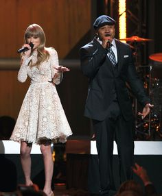 "Taylor Swift and this year's host LL Cool J kick off ""The GRAMMY Nominations Concert Live!!"" on Dec. 5, 2012"