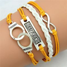 *Free Shipping* 1PC /Braided Pink Color Leather Wax Cord LOVE Symbol Hello Kitty Bracelet Fashionable Women Jewelry 1689563665