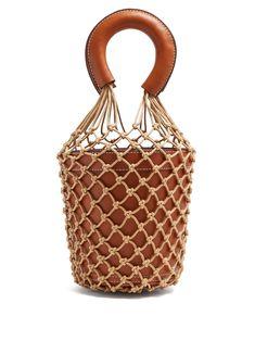 Moreau macrame and leather bucket bag | Staud | MATCHESFASHION.COM