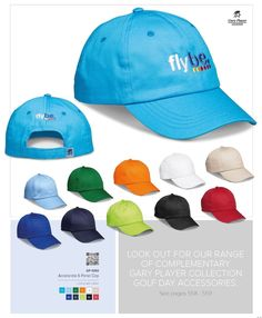 Gary Player Accelerate 6 Panel Cap Code: Chino Cotton Twill Gary Player Caps, Gary Player Bags, Gary Player Umbrellas, Gary Player golf accessories by Best Branding Cap Code, 6 Panel Cap, Golf Gifts, Golf Accessories, Corporate Gifts, Umbrellas, Beanies, Scarves, Baseball Hats