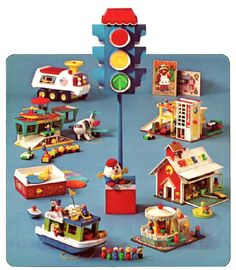 Vintage Fisher-Price Toys :: I always wanted the airport and parking garage