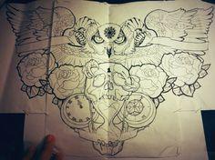 chest tattoo by jonathanmartel08.deviantart.com on @deviantART