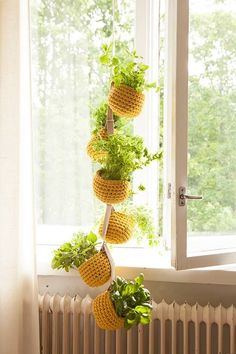 Spring weekends are for crocheting and planting. 🌿☀️🌿This crochet plan. : Spring weekends are for crocheting and planting. 🌿☀️🌿This crochet plant hanger is made of our Esteri Tube Yarn. Crochet Plant Hanger, Macrame Plant Hangers, Crochet Home Decor, Macrame Patterns, Crochet Designs, Crochet Yarn, Flower Pots, Free Pattern, Diy And Crafts