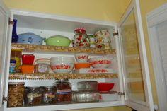 My retro kitchenalia kitchen ~ My Pyrex and Chili Pepper's treats.
