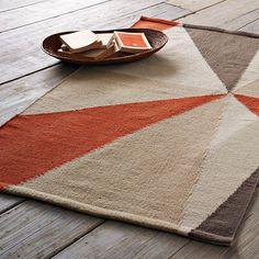 Kaleidoscope Dhurrie | west elm  Use two ($89) 3x5 rugs in the living room as one big rug? @Crystal Hooker