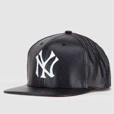 2b254c2ea1f63 New York Yankees Faux Leather Snapback by American Needle