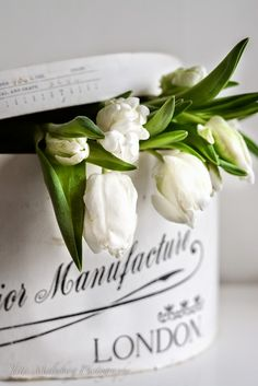 images by quenalbertini - beautiful box and flowers-via hwitblog.blogspot...