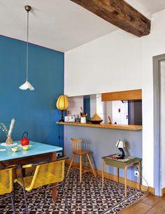 Blue teal - pareti e dettagli blu per la sala da pranzo - #interior #design