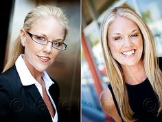 Love the side by side business vs casual headshots