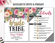 Bachelorette Party Invite and Itinerary, Bachelorette Party, Bride Tribe bachelorette party, Boho bachelorette party, Printable invitation Bachelorette Itinerary, Bachelorette Party Invitations, Bachelorette Weekend, Bachelorette Nashville, Bachlorette Party, Bachelorette Ideas, Spring Break, Bohemian Party, Printable Invitations