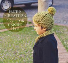 Instant download  Crochet hat PATTERN pdf file  by monpetitviolon, $4.99