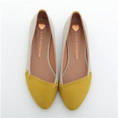 Yellow Toe Ballet Flats