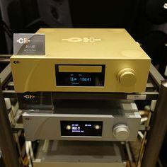 The CH Precision D-1 SE SACD Player in gold finish at the Hong Kong Show 2016 #TheSpeakerShack #CHPrecision #SACD #CD #MYHIEND #Audio #Music