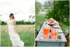 An Outdoors Shoot With Pretty Peach, Pink & Yellow: Styled Wedding Inspiration see more at http://www.wantthatwedding.co.uk/2013/01/05/an-outdoors-shoot-with-pretty-peach-pink-yellow-styled-wedding-inspiration/