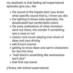 But I reaaallly love the newer Supernatural as well