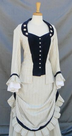 Bustle Dress Victorian Gown