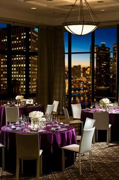 Hotel 71 Penthouse on Floor for reception with panoramic view of downtown Chicago Perfect Wedding, Dream Wedding, Wedding Things, Hotel Reception, Reception Ideas, Art Gallery Wedding, Chicago Hotels, Function Room