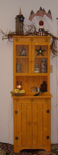 Prim Cabinets   Cabinets   Country Quackers Primitives Primitive Country  Home Decor And So Much